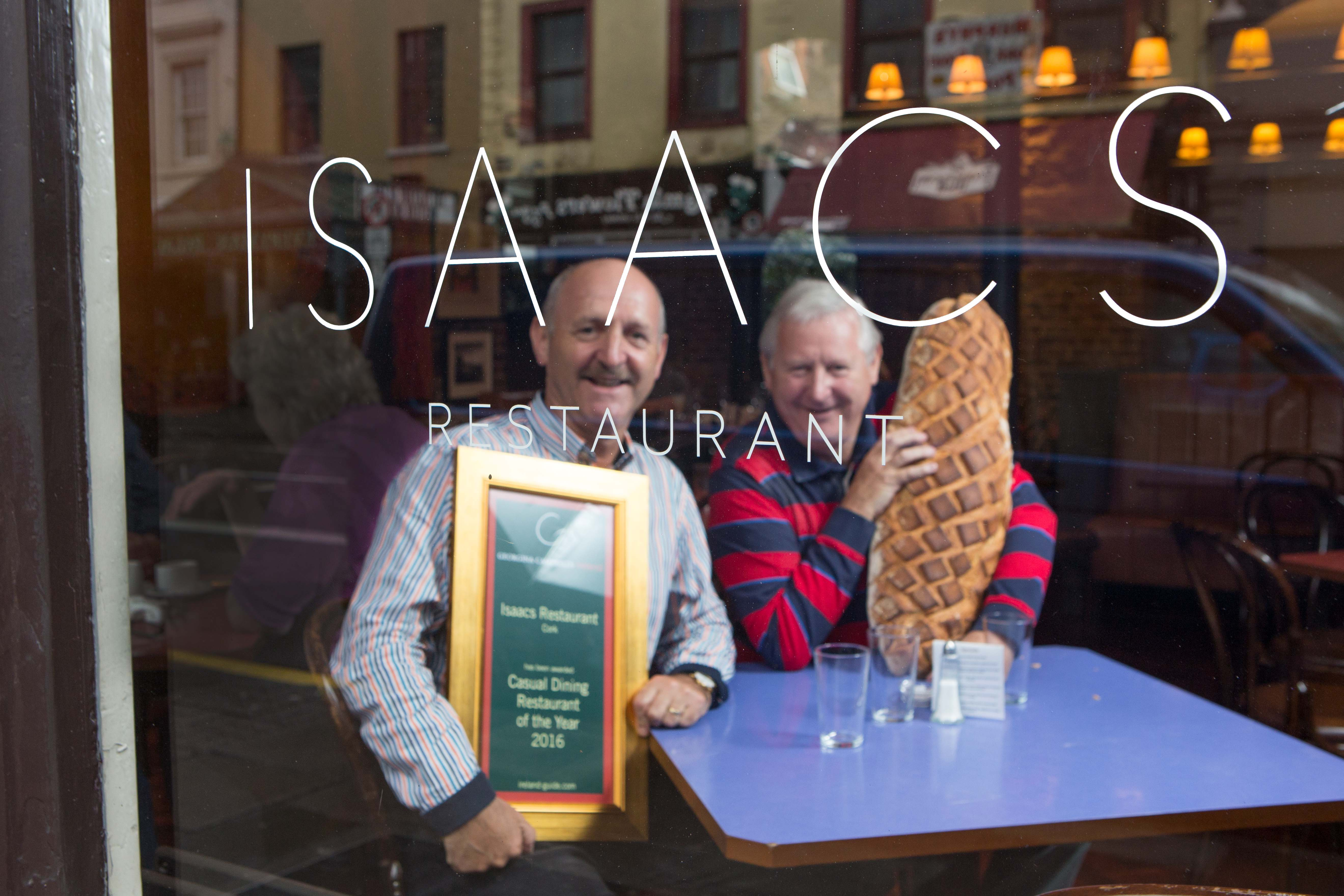 Isaacs Restaurant wins award