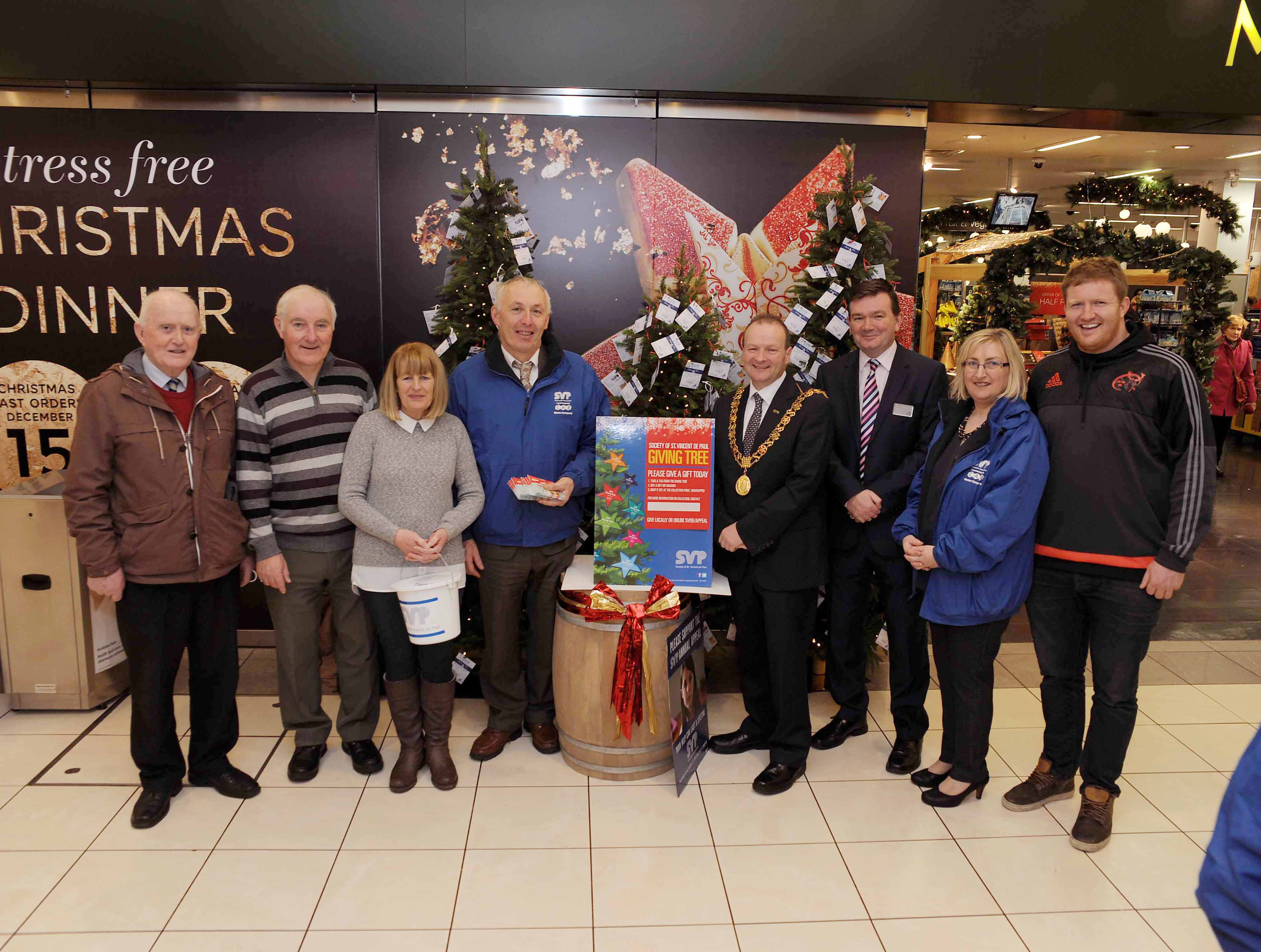 Annual Christmas St Vincent de Paul 'Giving Tree' unveiled in Merchants Quay Shopping Centre Cork City