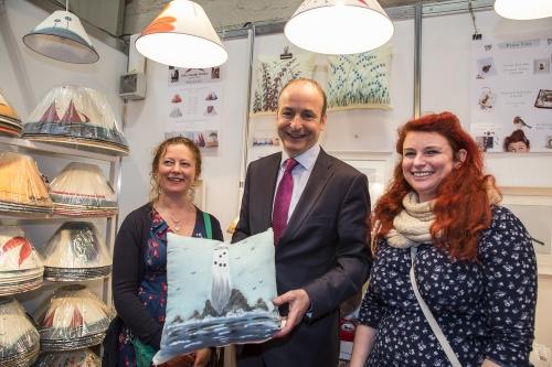Fianna Fáil Leader Micheál Martin meets Cork business people at RDS Fair