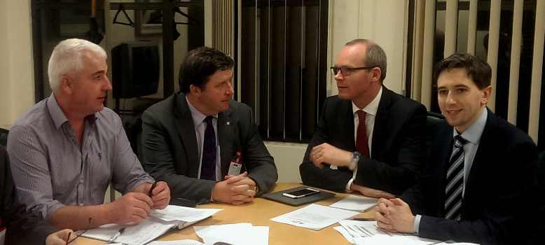 IFA Deputy President Corkman Tim O'Leary meets Agri Minister Simon Coveney in relation to recent Floods