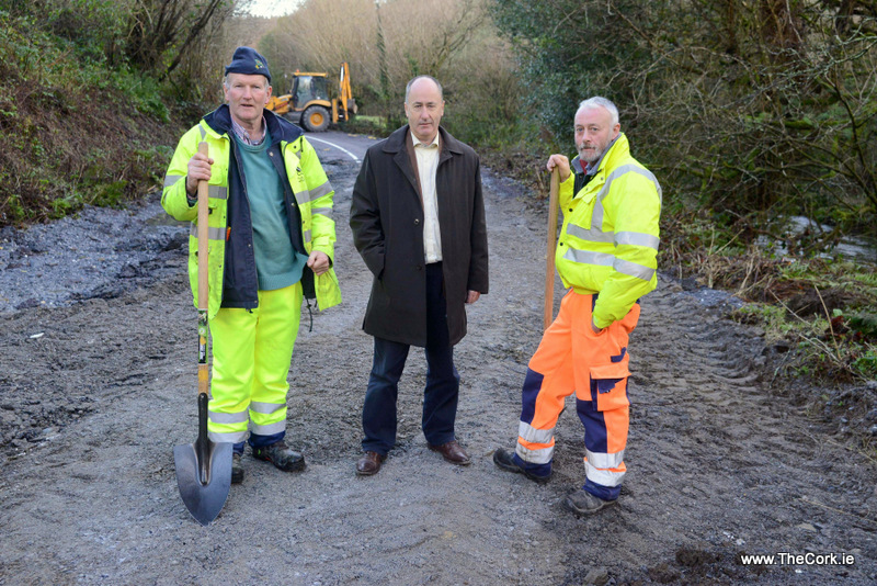 Bandon to Kilbrittain road in Co Cork is being 'rebuilt 'following Storm Frank