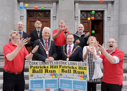 12,000 balls roll down Patrick's Hill, Cork as part of fundraiser for Cork City Centre Defibrillator Project