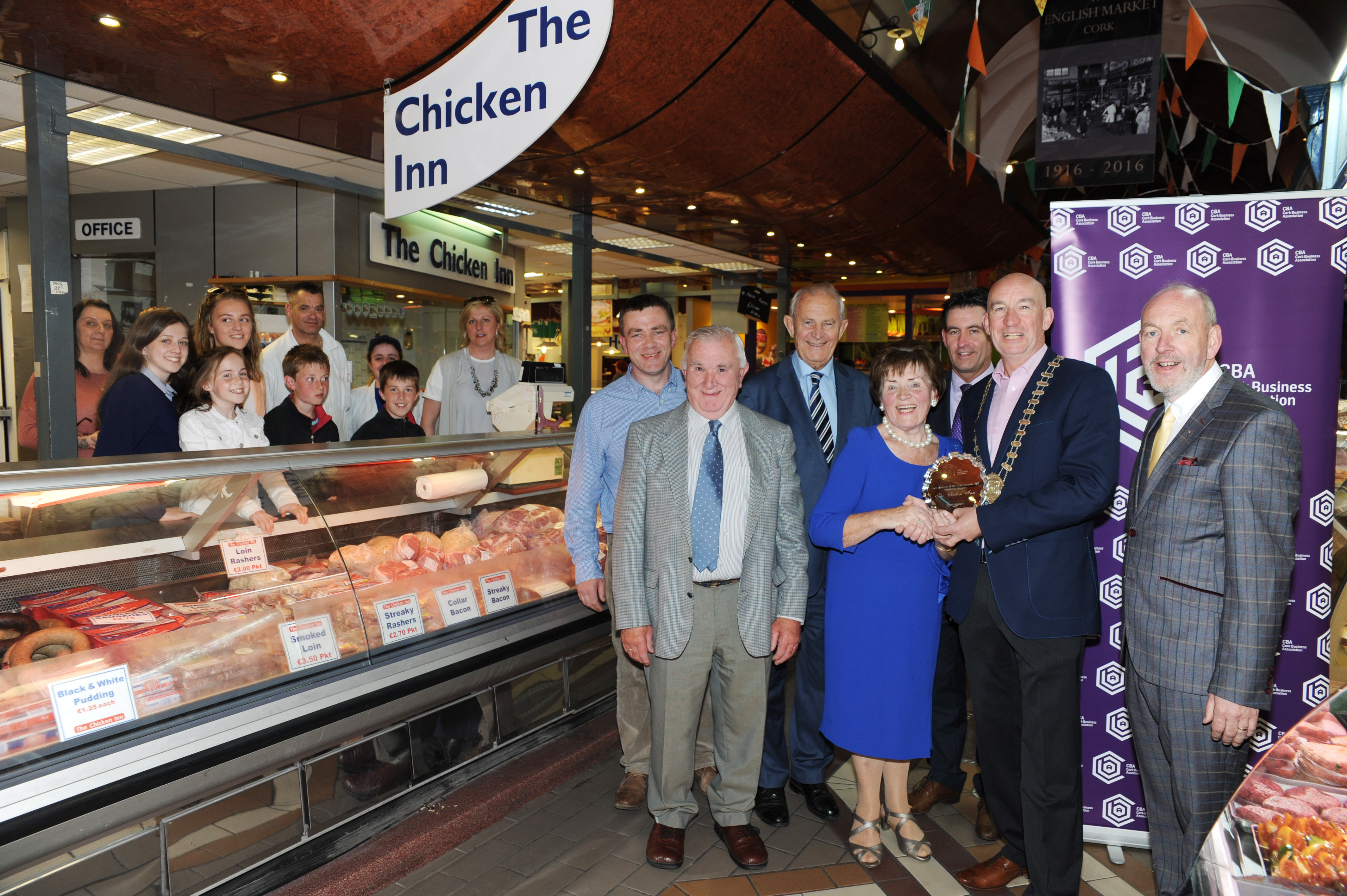 Business Award for 'The Chicken Inn' in Cork's English Market