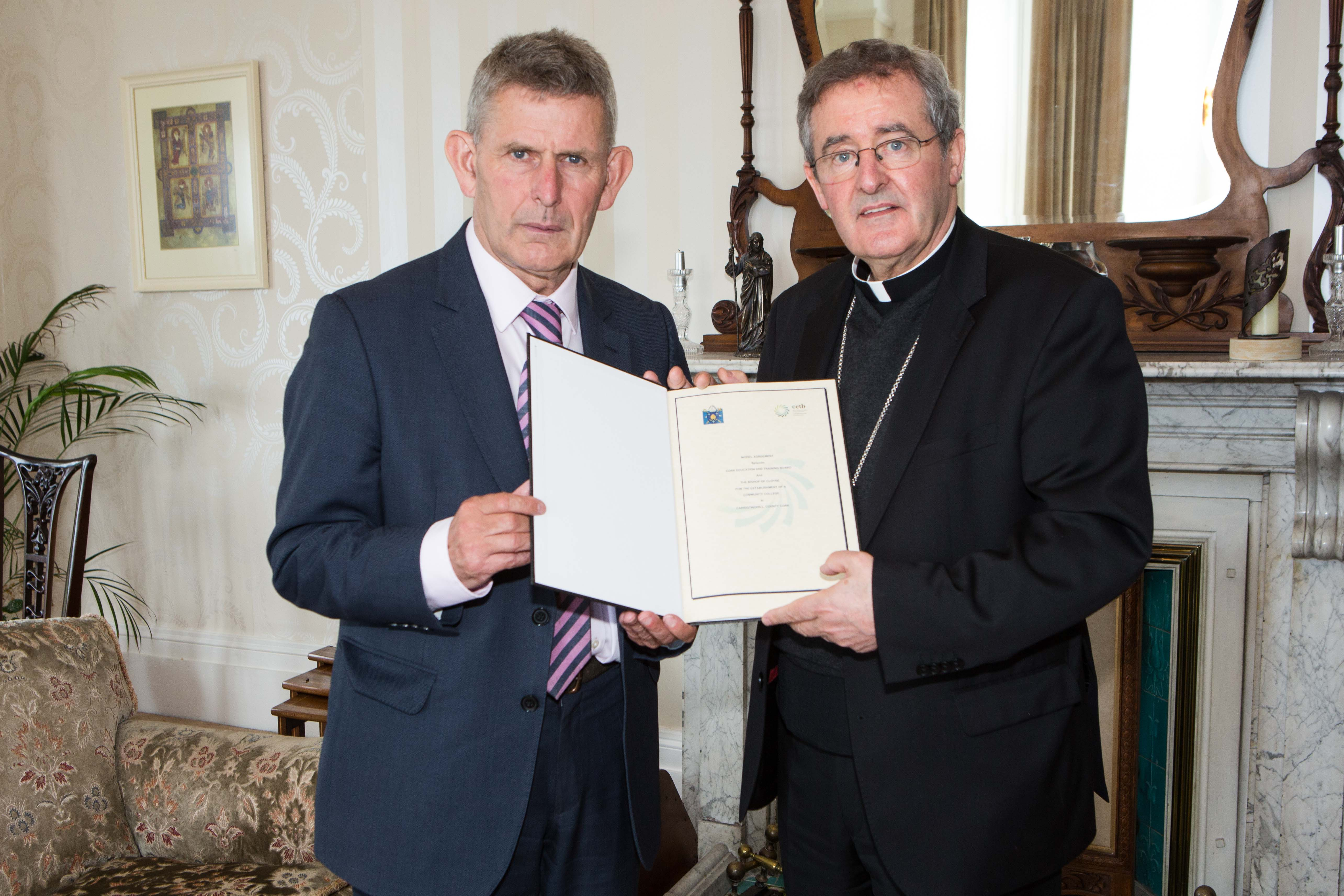 Cork ETB sign 'Model Agreement' with local Catholic diocese to run new Secondary School