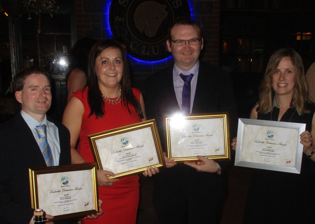 Awards for Co Cork Macra na Feirme Officers at County Officer Training