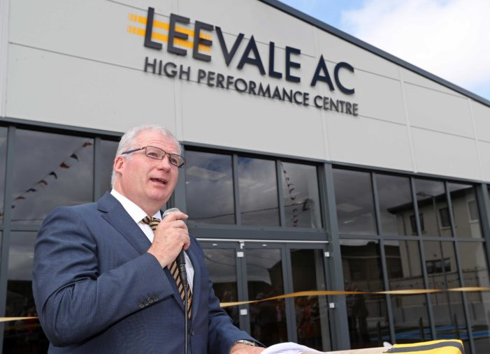 VIDEO: Official opening of 'Leevale Athletics High Performance Centre, Farranlea Road, Cork'
