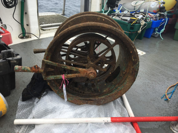 PIECE OF HISTORY RECOVERED: Main ship telegraph recovered from wreck of RMS Lusitania