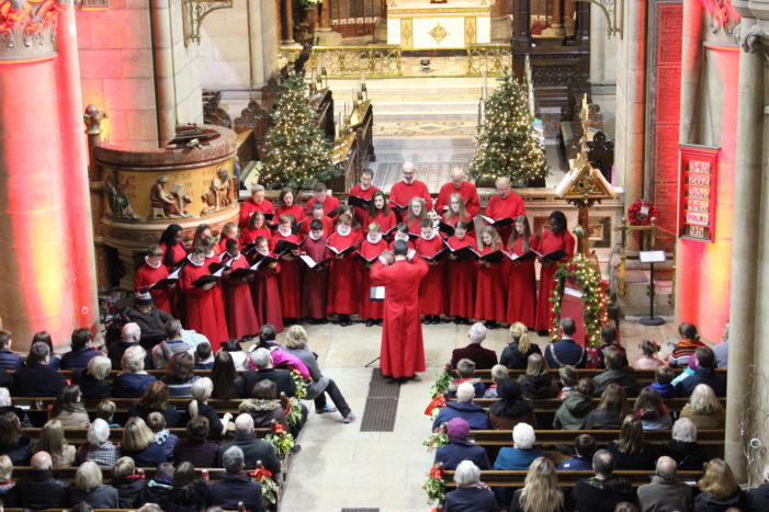 MUSIC: Neil Prendeville speaks at launch of St Fin Barre's Cathedral Christmas Carols CD launch