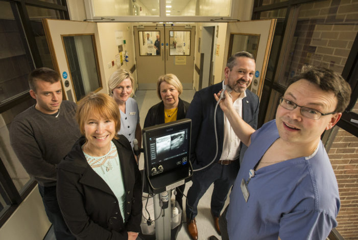 €37k raised through Mercy Hospital Foundation purchases new Ultrasound in The Mercy ICU
