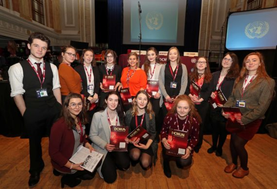 400 Student Strong Davis College Model United Nations Gets Underway at Cork City Hall