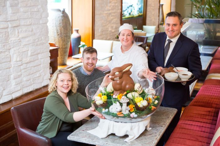 "EASTER ENTERTAINMENT: Imperial Hotel goes the ""eggs-tra"" mile for Pieta House this Easter"