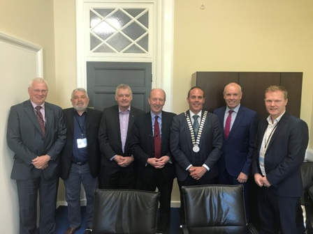 County Cork Mayor Hurley meets Minister for Transport Shane Ross