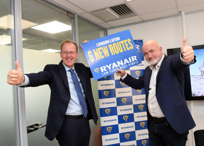 Ryanair announces new Cork to 'London Luton' route