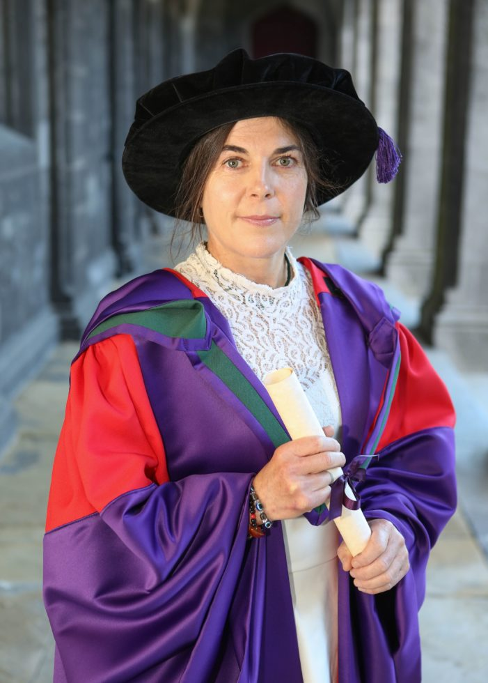 UCC Lecturer Dr Clare O'Leary Conferred with Honorary Doctor of Laws at another NUI Galway