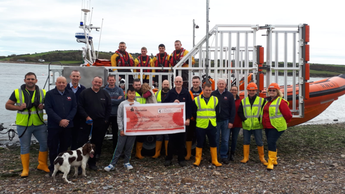 Youghal RNLI volunteer presents €5,000 from German employer after walking 613km to help save lives at sea