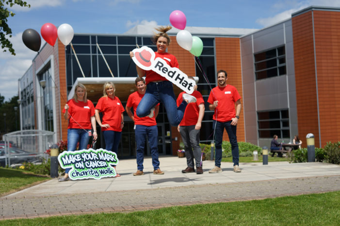 Software firm Red Hat backs the 'Make Your Mark on Cancer' charity walk