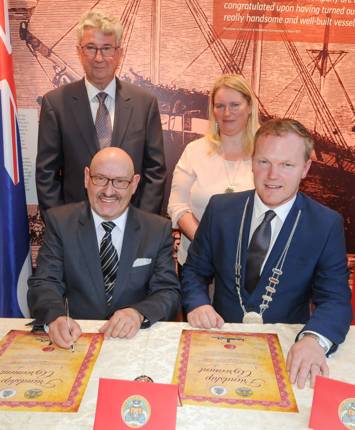 Tasmania (Australia) signs agreement with Cork (Ireland)