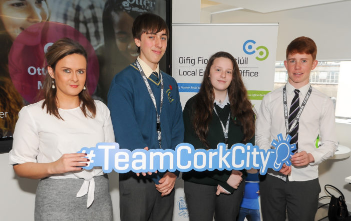 #CSR Otterbox Office on South Mall Cork hosts student mentoring day