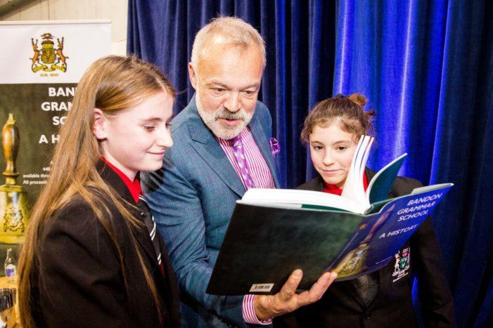 Graham Norton visits his old school in West Cork, Ireland – Bandon Grammar