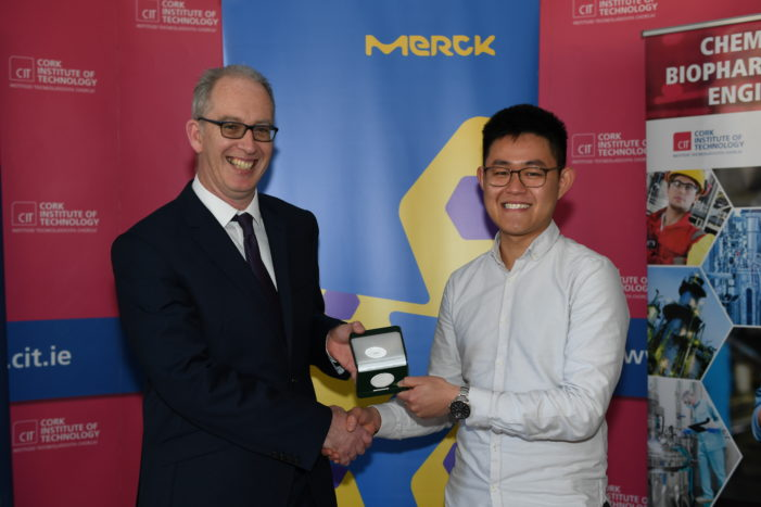 CIT Chemical Engineeing Student wins 2019 Merck Prize for Academic Excellence