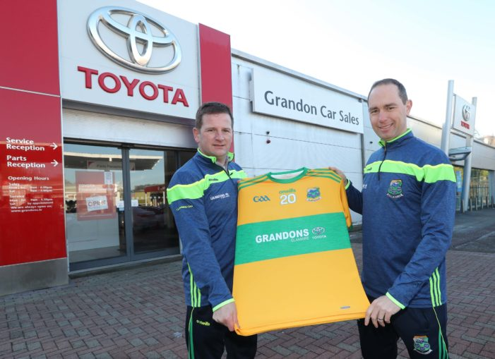 Toyota dealership supports local team as Grandons pen deal with Glanmire GAA