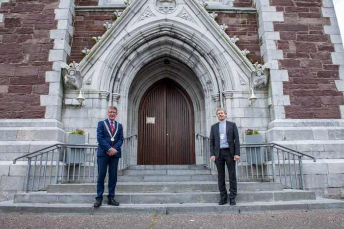 Mayor pays courtesy visit to Catholic Bishop's: Fintan Gavin & William Crean