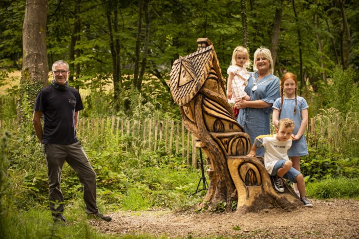Nature Inspired Sculptures in Midleton Lodge Park cause quite a Buzz