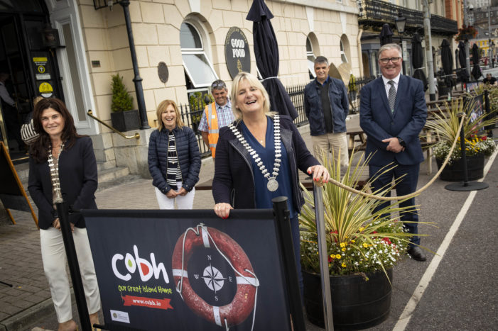 COBH, EAST CORK: Branded windbreakers improve aesthetics of Al Fresco dining