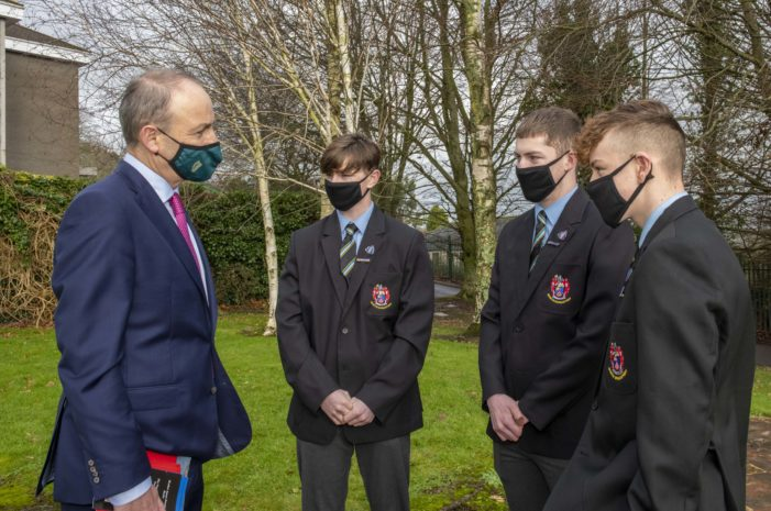 Taoiseach goes back to school